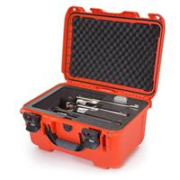 """Image of Nanuk Firearms Series 918 Waterproof Protective Case with Foam Insert for 3 Revolvers with up to 8"""" Barrels, Orange"""