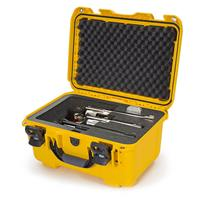 """Image of Nanuk Firearms Series 918 Waterproof Protective Case with Foam Insert for 3 Revolvers with up to 8"""" Barrels, Yellow"""