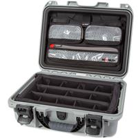 Image of Nanuk Medium Series 920 Lightweight NK-7 Resin Waterproof Hard Case with Lid Organizer and Padded Dividers, Silver