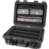 Image of Nanuk Medium Series 920 Lightweight NK-7 Resin Waterproof Hard Case with Lid Organizer and Padded Dividers, Olive