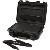 """Image of Nanuk 923 Hard Case with Sleeve & Shoulder Strap for 15"""" Laptop, Black"""