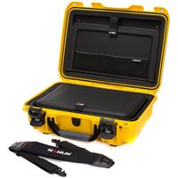 """Image of Nanuk 923 Hard Case with Sleeve & Shoulder Strap for 15"""" Laptop, Yellow"""