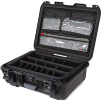 Image of Nanuk Large Series 930 Lightweight NK-7 Resin Waterproof Hard Case with Lid Organizer and Padded Dividers, Black