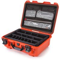 Image of Nanuk Large Series 930 Lightweight NK-7 Resin Waterproof Hard Case with Lid Organizer and Padded Dividers, Orange
