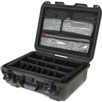 Image of Nanuk Large Series 930 Lightweight NK-7 Resin Waterproof Hard Case with Lid Organizer and Padded Dividers, Olive