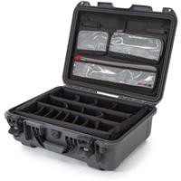 Image of Nanuk Large Series 930 Lightweight NK-7 Resin Waterproof Hard Case with Lid Organizer and Padded Dividers, Graphite