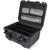Image of Nanuk Large Series 933 Lightweight NK-7 Resin Waterproof Hard Case with Lid Organizer and Padded Dividers, Graphite