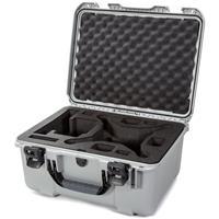 Image of Nanuk 933 Hard-Shell Carrying Case with Foam Insert for DJI Phantom 4, 4 Pro, 4 Pro+, 4 Pro+ 2.0 and 4 RTK, Silver
