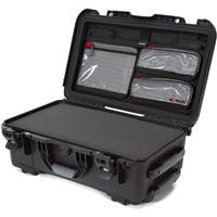 Image of Nanuk Wheeled Series 935 Lightweight NK-7 Resin Waterproof Hard Case with Foam Insert and Lid Organizer, Black