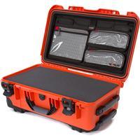 Image of Nanuk Wheeled Series 935 Lightweight NK-7 Resin Waterproof Hard Case with Foam Insert and Lid Organizer, Orange