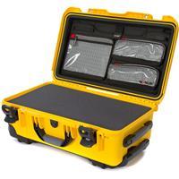 Image of Nanuk Wheeled Series 935 Lightweight NK-7 Resin Waterproof Hard Case with Foam Insert and Lid Organizer, Yellow