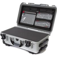 Image of Nanuk Wheeled Series 935 Lightweight NK-7 Resin Waterproof Hard Case with Foam Insert and Lid Organizer, Silver