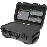 Image of Nanuk Wheeled Series 935 Lightweight NK-7 Resin Waterproof Hard Case with Foam Insert and Lid Organizer, Olive