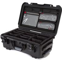 Image of Nanuk Wheeled Series 935 Lightweight NK-7 Resin Waterproof Hard Case with Lid Organizer and Padded Dividers, Black