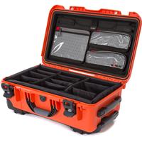 Image of Nanuk Wheeled Series 935 Lightweight NK-7 Resin Waterproof Hard Case with Lid Organizer and Padded Dividers, Orange
