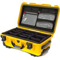 Image of Nanuk Wheeled Series 935 Lightweight NK-7 Resin Waterproof Hard Case with Lid Organizer and Padded Dividers, Yellow