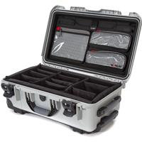 Image of Nanuk Wheeled Series 935 Lightweight NK-7 Resin Waterproof Hard Case with Lid Organizer and Padded Dividers, Silver
