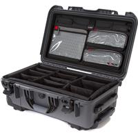 Image of Nanuk Wheeled Series 935 Lightweight NK-7 Resin Waterproof Hard Case with Lid Organizer and Padded Dividers, Graphite