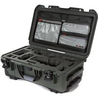Image of Nanuk Media Series 935 Wheeled Lightweight NK-7 Resin Hard Case with Foam Insert for Sony A7R, Olive
