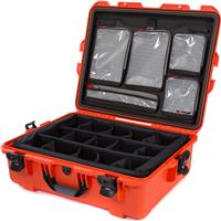 Image of Nanuk Large Series 945 Lightweight NK-7 Resin Waterproof Hard Case with Dividers and Lid Organizer, Orange