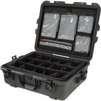 Image of Nanuk Large Series 945 Lightweight NK-7 Resin Waterproof Hard Case with Dividers and Lid Organizer, Olive