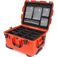 Image of Nanuk Wheeled Series 960 Lightweight NK-7 Resin Waterproof Hard Case with Padded Dividers and Lid Organizer, Orange