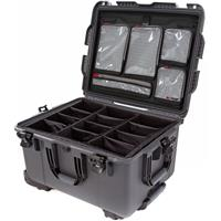 Image of Nanuk Wheeled Series 960 Lightweight NK-7 Resin Waterproof Hard Case with Padded Dividers and Lid Organizer, Graphite