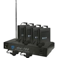 Image of Nady ALD-800 Versatile VHF Wireless Assistive Listening System, Includes Transmitter, DC Adapter, 4 x Receivers and 4 x Earbuds, EE: 72.9MHz