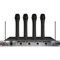 Compare Prices Of  Nady 401X Quad HT 4-Channel VHF Wireless Microphone System, Includes 4 WHT Transmitters, Receiver, 2 Antennas, Power Supply, Channels E4/F/H/E