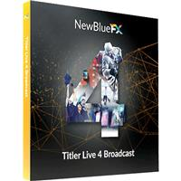 Image of NewBlueFX Titler Live 4 Broadcast, Electronic Download