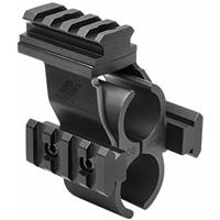 Image of NcSTAR Shotgun Barrel & Magazine Tube Mount with Rails to Mount the Micro-Dot Sight, for Mossberg 500/590