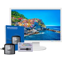 """Image of NEC PA243W-BK-SV 24.1"""" Wide Gamut IPS LED Monitor with Integrated Speakers and SpectraViewII Calibration, White"""