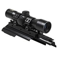 """Image of NcSTAR 4x30 Compact Tactical Riflescope with P4 Sniper Reticle, AK47 Tri-Rail Mount Cover, Pair of 1"""" Aluminum Rings, 1"""" Center Tube"""