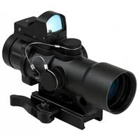 Image of NcSTAR 3.5x32 Urban Tactical Riflescope with Dual Illuminated Green and Blue Tactical Reticle, DGAB Micro Green Dot Reflex CPO Optic