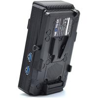 Image of Nexto DI NCB-20 Cfast 4 Slot Multiple Memory Card Reader and Copier with V-Mount Battery Bracket
