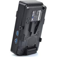 Image of Nexto DI NCB-20 CFast 4 Slot Multiple Memory Card Reader and Copier with V-Mount Battery Plate