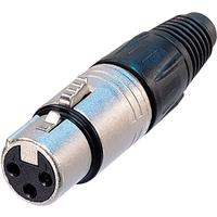 Image of Neutrik NC3FX 3-Pole XLR Female Cable Connector, Nickel housing, Silver Contacts
