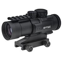 Compare Prices Of  Newcon Optik 4x32 Tactical Series Riflescope, Matte Black with Red / Green LED Illuminated Mil-Dot Ranging Reticle, Fixed Mount