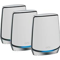 Image of Netgear Orbi AX6000 Wireless Tri-Band Mesh Wi-Fi System with Router + 2 Satellites