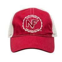 Image of Nightforce Optics Mesh Back, Embroidered Logo Ball Cap, Red