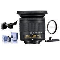 Compare Prices Of  Nikon AF-P DX NIKKOR 10-20mm f/4.5-5.6G IF VR Zoom Lens - U.S.A. Warranty - Bundle With 72mm UV Filter, Cleaning Kit, Capleash II