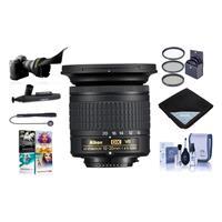 Image of Nikon AF-P DX NIKKOR 10-20mm f/4.5-5.6G IF VR Zoom Lens U.S.A. Warranty - Bundle With 72mm Filter Kit, Lens Wrap 15x15, Flex Lens Shade, Cleaning Kit, Capleash II, Cleaner, Software Package