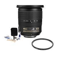 Image of Nikon 10-24mm f/3.5-4.5G ED-IF AF-S DX NIKKOR Lens F/DSLR Cameras - U.S.A Warranty - Accessory Bundle with Tiffen 77mm UV WA Filter, Professional Lens Cleaning Kit