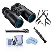 Image of Nikon 10x42 Monarch 7 All Terrain Roof Prism Binocular, Black, Bundle with Accessory Kit