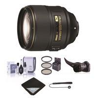 Image of Nikon AF-S NIKKOR 105mm f/1.4E ED Telephoto Lens - U.S.A. Warranty - Bundle with 82mm Filter Kit, Flex Lens Shade, Cleaning Kit, Lens Wrap (15x15), Cap Leash