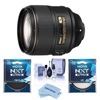 Compare Prices Of  Nikon AF-S NIKKOR 105mm f/1.4E EDIF Telephoto Lens USA Warranty - Bundle With Hoya NXT Plus 82mm 10-Layer HMC UV Filter, HOYA 82mm NXT Circular Polarizer Filter, Cleaning Kit, Microfiber Cloth