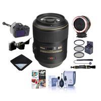 Image of Nikon 105mm f/2.8G ED-IF AF-S VR Micro NIKKOR Lens USA Warranty - Bundle With 62mm Filter Kit, FocusShifter DSLR Follow Focus, Peak Lens Changing Kit Adapter, Flex Lens Shade, Software Package, And More