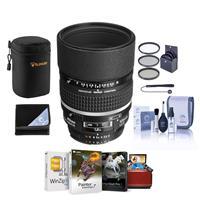 Image of Nikon 105mm f/2 AF-D DC NIKKOR Telephoto Lens - Bundle with 72mm Filter Kit (UV/CPL/ND2), Lens Case, Lens Wrap (15x15), Lens Cap Leash, Cleaning Kit, Mac Software Package