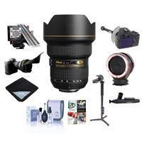 Image of Nikon 14-24mm f/2.8G ED-IF AF-S NIKKOR DSLR Lens - Bundle with FocusShifter DSLR Follow Focus, LensAlign MkII Focus Calibration System, Peak Lens Changing Kit Adapter, 4 Section Aluminum Monopod, And More