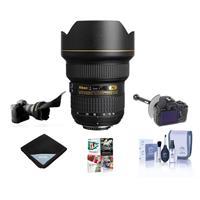 Image of Nikon 14-24mm f/2.8G ED-IF AF-S NIKKOR DSLR Lens - Bundle with Flex Lens Shade, FocusShifter DSLR Follow Focus & Rack Focus, Lens Wrap (19x19), Cleaning Kit, Pro Software Package